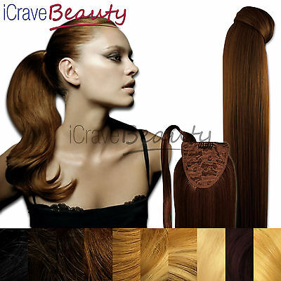 Clip in Ponytail Wrap Around Ponytail Hair Extension - Slinky Chic - Straight