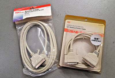DB25 Male to Centronics 36 male Printer cable  10/' New not in original pkg.