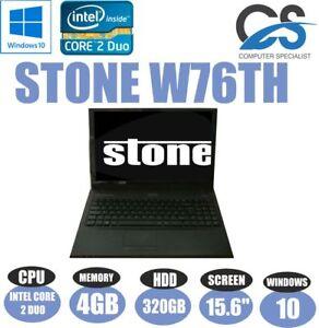 Windows-10-Stone-W76TH-15-6-034-Ordinateur-Portable-Intel-Core-2-Duo-4gb-Ddr2