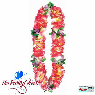 Deluxe Rosa Morbido Ghirlanda Hawaiana Ghirlanda Petali Luau Beach Party Accessorio 318327-mostra Il Titolo Originale