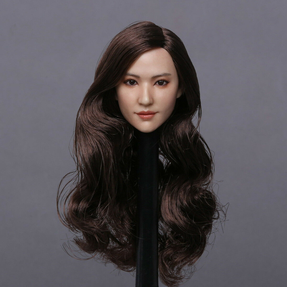 1 6 GACTOYS GC015 Female Head Sculpt Carved Long Curly Curly Curly Hair For 12  Figure Doll 58ae2e