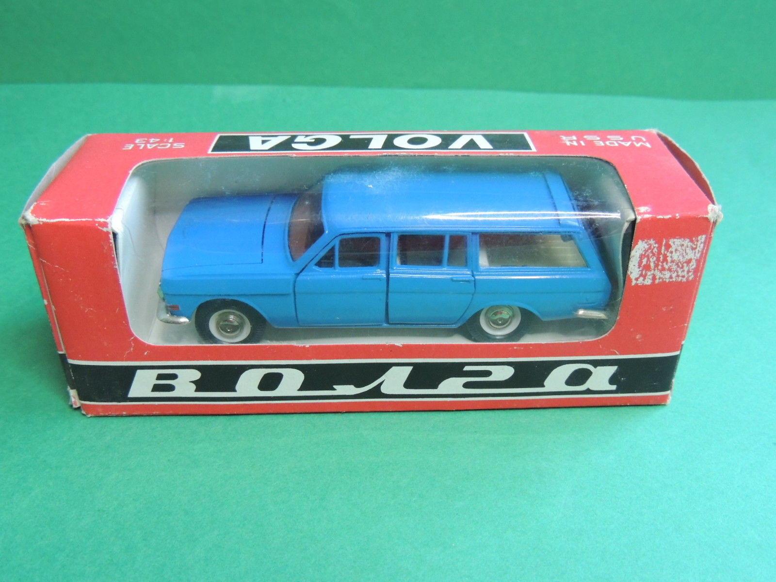 AutoGAZ Volga scale model GAZ-24-02 voiture russian azul car URSS CCCP USSR