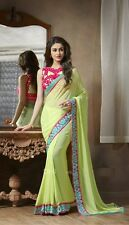 Bollywood Latest design Georgette Saree With Embroideries Blouse