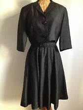 New listing Vintage 1950's Classic Joan Doris Black Silk Dress with Jacket Saks Fifth Avenue