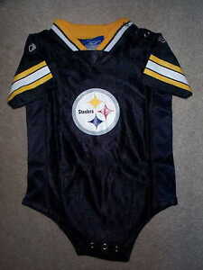 the latest d96b9 a13df Details about REEBOK Pittsburgh Steelers nfl BABY INFANT NEWBORN CREEPER  Jersey 24M 24 Months