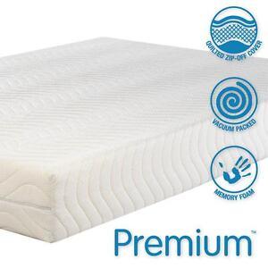 Premium 4000 Luxury Soft Memory Foam Mattress 5FT King Size Free ...