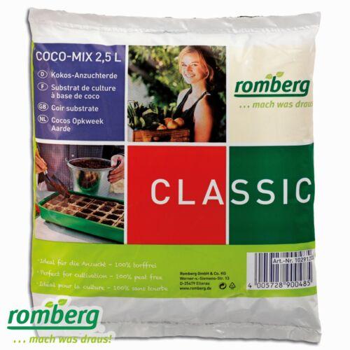 Romberg 2,5L Kokos-Anzuchterde torffrei Zimmergewächshaus Aussat Keimlinge Samen
