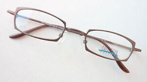 Stabil Grösse M Brillen-fassung Brille Aus Metall In Braun Mit Kleinen Gläsern Sonnenbrillen
