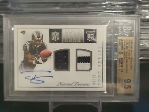 2015 Todd Gurley National Treasures RC Rookie Materials #'d /25!!! BGS 9.5!!!