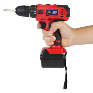 21V-Li-ion-Battery-Cordless-Drill-Rechargeable-Electric-Screwdriver-Drilling-Kit