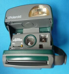POLAROID CAMERA ONE STEP EXPRESS GREEN 600 FILM PLUS POLAROID BAG 1 ... 31b6bb2ffb