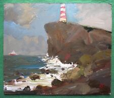 SHIP STANDING OFF : Original Oil Painting Alexei Petrenko : Give Fine Art