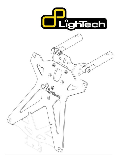 KTARKA113 LIGHTECH KIT PORTATARGA REGOLABILE PER KAWASAKI ZX10R 2011 2012 2013