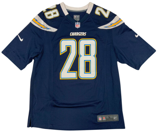 Nike Men's Los Angeles Chargers Melvin Gordon Game Jersey Navy Blue Large