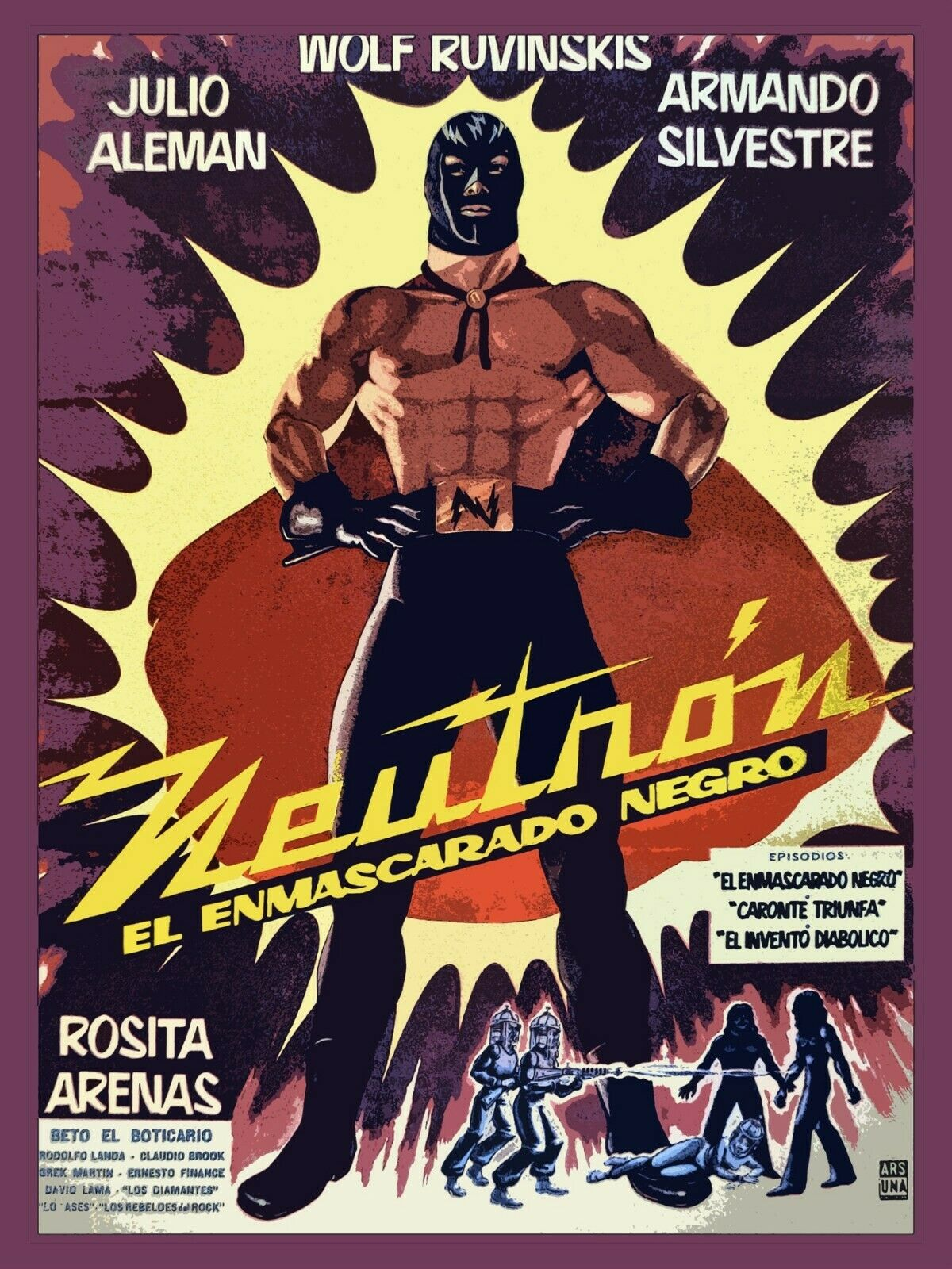 8945.Decoration Poster.Home room interior decor.Neutron.Mexican wrestling movie