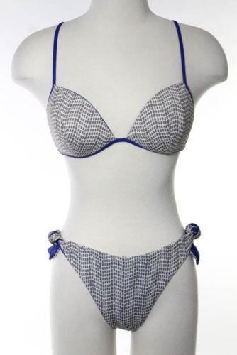 La Perla floral 2 piece swim suit color bluee   Taupe   White Size 8 800167B - 12