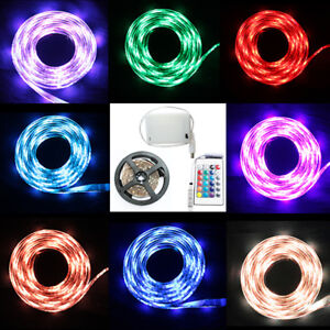Led strip lights rgb 5v battery box remote control battery powered image is loading led strip lights rgb 5v battery box remote aloadofball Image collections