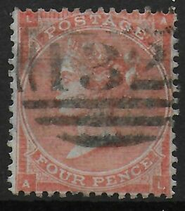 SG80-4d-Pale-Red-Fine-Used-With-Neat-Numeral-034-132-034-Cancel-Of-Brighton-Ref-07226