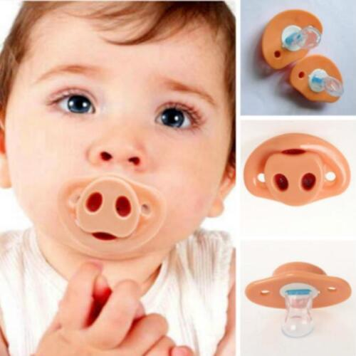 Cute Dummy Pig Nose Shape Baby Infant Pacifier Orthodontic Nipple Soother C