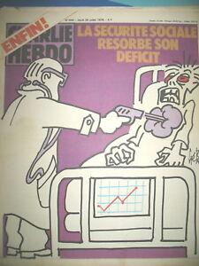 CHARLIE-HEBDO-N-454-DEFICIT-SECURITE-SOCIALE-MAReE-NOIRE-GeBe-REISER-CABU-1979