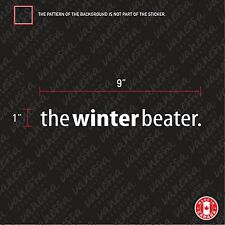 2x THE WINTER BEATER. Sticker funny decals JDM