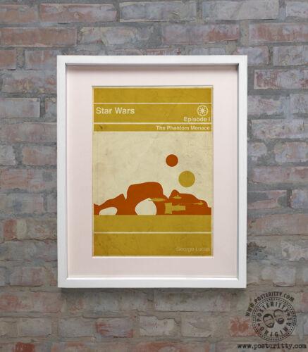 PHANTOM MENACE Star Wars Minimalist Movie Poster by Posteritty Minimal Wall Art