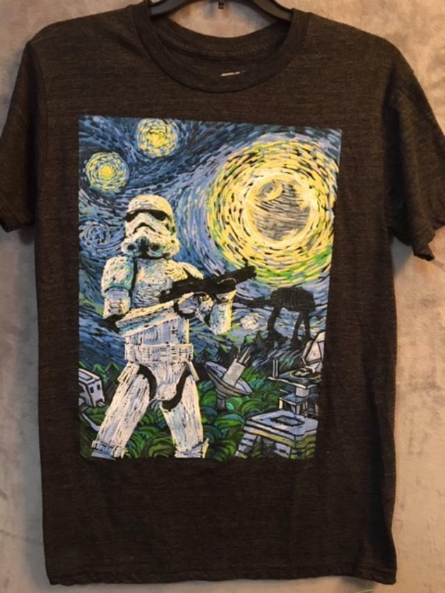 Star Wars Shirt Movie Shirt Hoodie Sweatshirt Star Wars Stormtrooper Starry Night Graphic T-Shirt Tanktop Star Wars Tee Funny Shirt