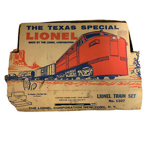 Vintage-Postwar-Lionel-Texas-Special-1055-with-3-Cars-and-Caboose-With-Box