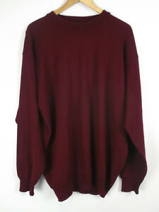 FASHION-AFFAIRS-Pullover-weinrot-Groesse-52-54-Wolle