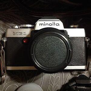 MINOLTA-XG-1-35mm-Film-2-LENSES-PLUS-CASE
