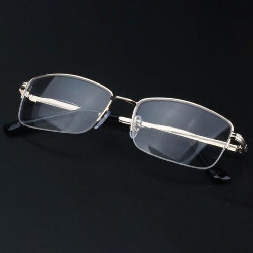 Metal Lightweight Bifocal Reading Glasses Half-Frame Round Computer Glasses