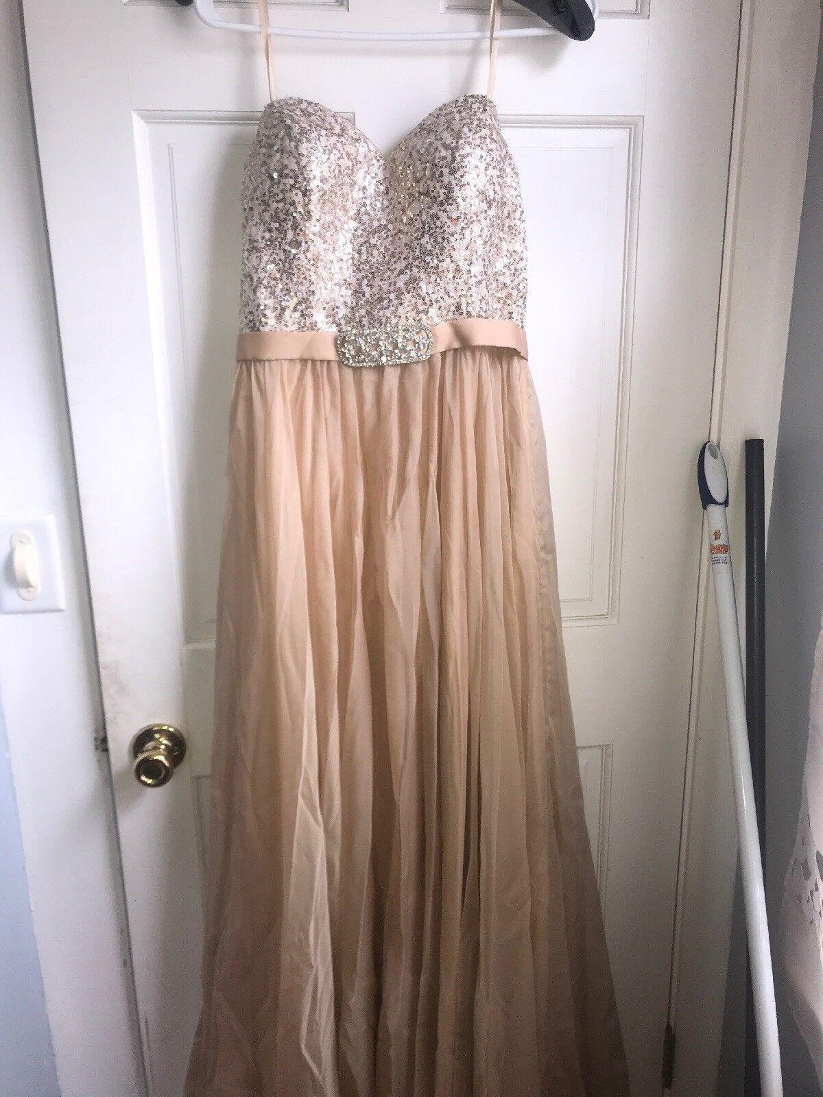 Gigi Formal Gold Gown Size 10