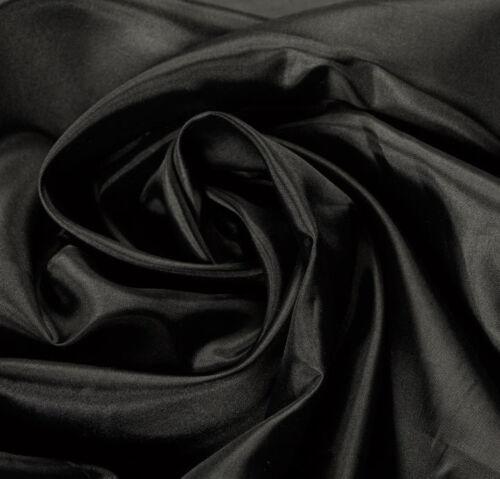 Premium Quality 100/% Silk Black Lining Dress Fabric Upholstery Fashion Crafts