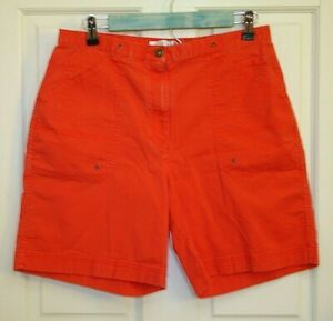 Christopher-amp-Banks-Womens-Size-10-31-Orange-Casual-Shorts-Stretch-30-15965