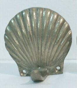 2-Vintage-Brass-Seashell-Clam-Wall-Coat-Towel-Hooks-2-75