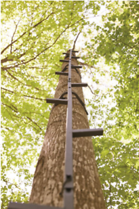 Tree Stand 25-Feet Climbing Sticks Hunting Ladder Deer Durable Steel Steps NEW