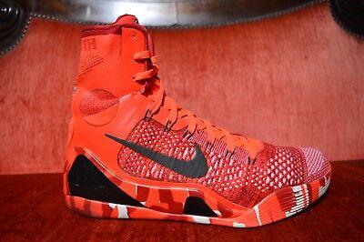 new product a9bd3 54d8b Nike Kobe 9 IX Elite Christmas RED Mens Size 10.5 630847-600 CLEAN OG ALL  887232301927 | eBay