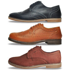 Red Tape REAL LEATHER Mens Brogues Oxford Dress Shoes From £17.99 FREE P&P