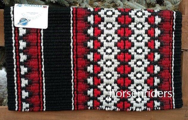 Mostrar occidental Lana Manta-Personalizado - 34 x40  - Negro-rojo-Borgoña-gris - metálico