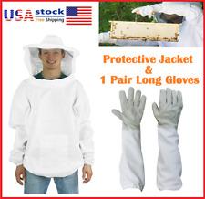 Beekeeping Protective Jacket Veil Suit Amp 1 Pair Beekeeping Long Sleeve Gloves Us