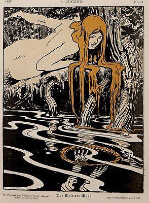 JUGEND ART NOUVEAU /& MORE ILLUSTRATIONS Restored Magazine Image Collection