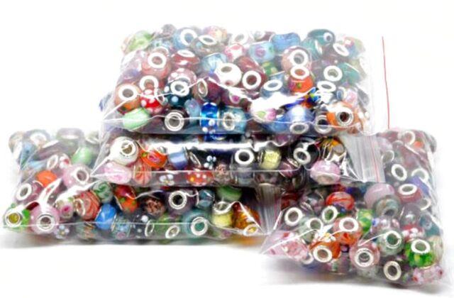 Wholesale Bulk Lots Charms Glass Beads Pendants Stoppers For CHARM BRACELETS