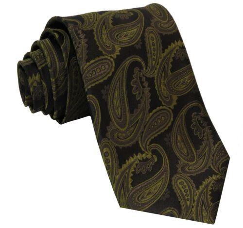 New Men/'s Polyester Woven Paisley Neck Tie Necktie Black /& Neon Green formal