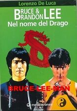 B-049 BRUCE LEE BRANDON LEE '96 ITALIAN PHOTO BOOK NOME DEL DRAGO 136 PAGES RARE