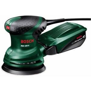 Bosch Meule ponceuse meuleuse PEX 220 A, 220 Watt, 125 mm plateaux Support Diamètre