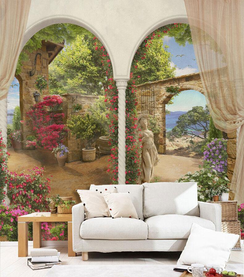 3D Jardin 21 Photo Papier Peint en Autocollant Murale Plafond Chambre Art