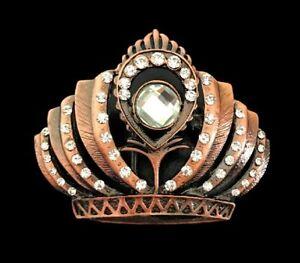 Rhinestone-Crown-Royal-Beauty-Queen-Belt-Buckle-Boucle-De-Ceinture