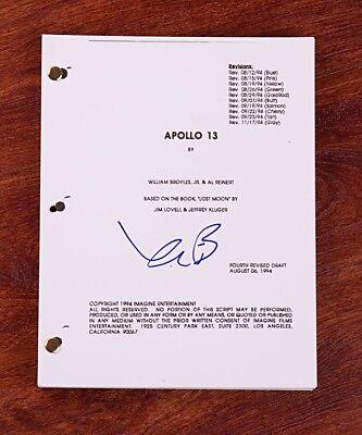 Signed Full 141 Page Movie Script Coa Traveling Kevin Bacon Gfa Apollo 13 Movie