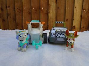 Paw-Patrol-Everest-Snowmobile-Vehicle-amp-Pup-Plus-Tracker-Jungle-Vehicle-amp-Pup