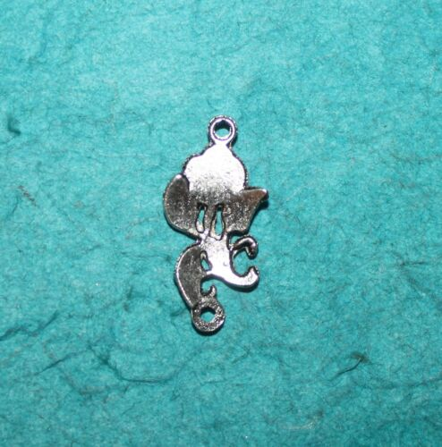 Flower Charm Connector Jewelry Finding Roses Charm Lot of 4 Shabby Chic Rose